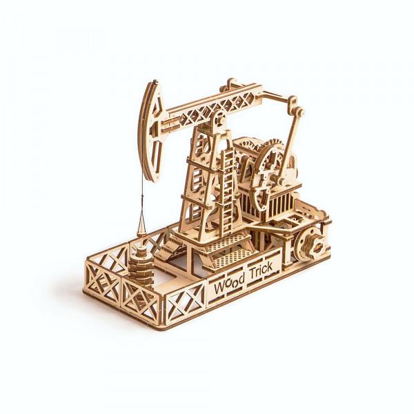 Wood Trick, Oil Derrick Ölförderpumpe, 3 D Holzbausatz mit mechanischer Funktion, lasercut