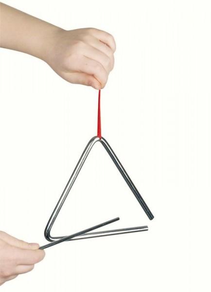 Triangel, 16 cm, mit Metallstab