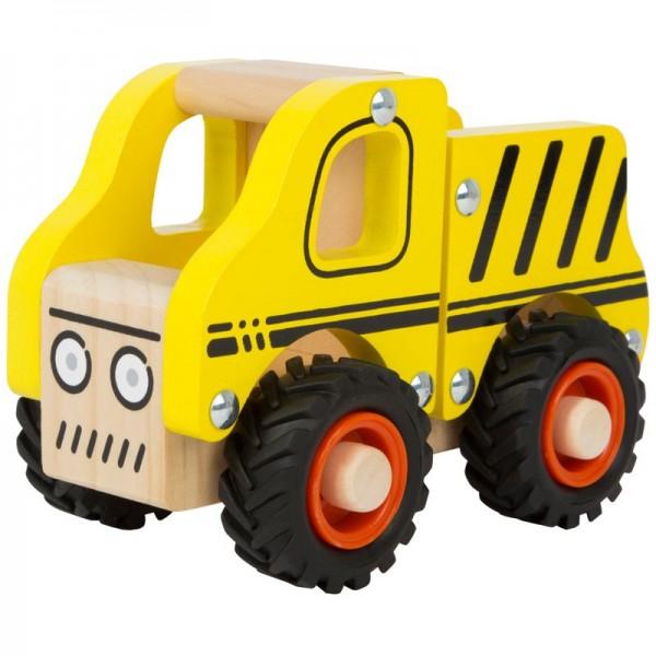 Baufahrzeug, Spielzeug LKW aus Holz