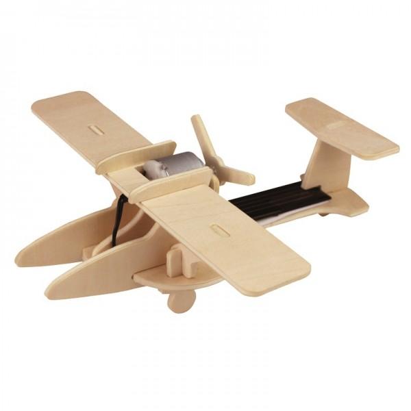 Solarbausatz Holzbausatz Sport-Flugzeug