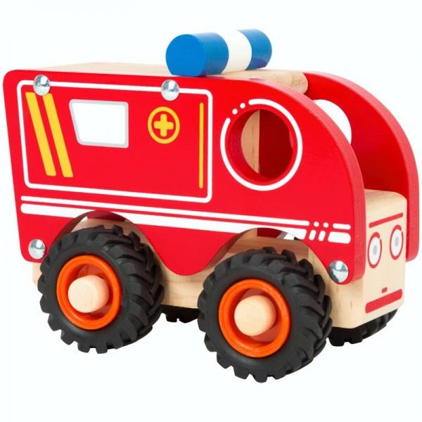 Krankenwagen, Holzspielzeug für Kinder ab 18 Monate