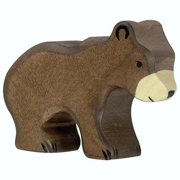 Holztiger Spielfigur Braunbär, klein
