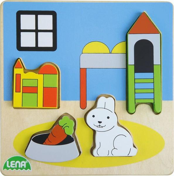 Holzpuzzle Kinderzimmer, ab 18 Monate