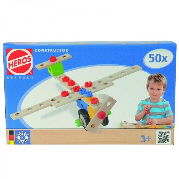 Heros Constructor 50 tlg., Flugzeug, Motorrad