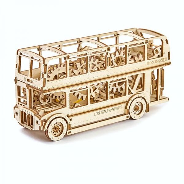 Wooden City mechanischer 3D-Holzbausatz London Bus