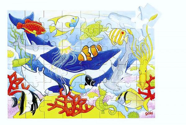 Puzzle aus Holz, In den Tiefen des Meeres, 48 Teile aus Holz
