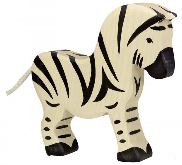 Holztiger Spielfigur Zebra