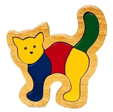 Einlegepuzzle aus Holz, Katze