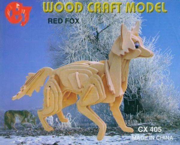 Woodcraft Holzbausatz Fuchs