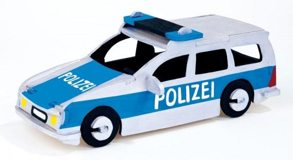 Holzbausatz Polizeiauto, 26 Einzelteile