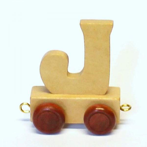 Buchstabenzug Buchstabe J, Holz