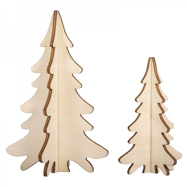 Holzsteckteile Tannen 2 Stück