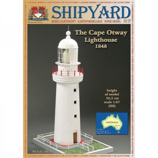Modellbaubogen, Kartonbausatz Cape Otway Leuchtturm Maßstab 1:87 (H0)