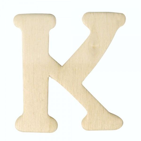 Holz-Buchstabe K, 4 cm