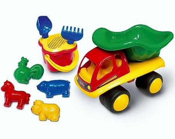 LKW - Muldenkipper mit 8-teiligem Sandspielzeug