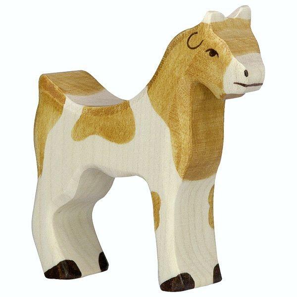 Holztiger Spielfigur Ziege