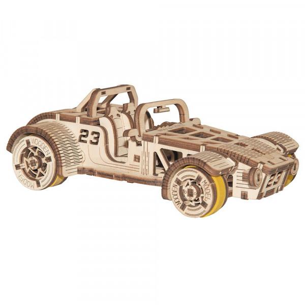 Wooden City 3D Holzbausatz Roadster, lasercut, mit mechanischer Funktion