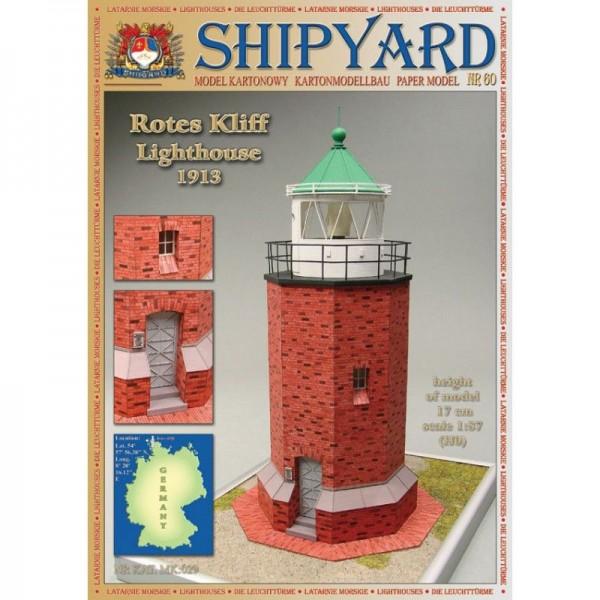 Modellbaubogen, Kartonmodellbau Rotes Kliff Leuchtturm Maßstab 1:87 (H0)