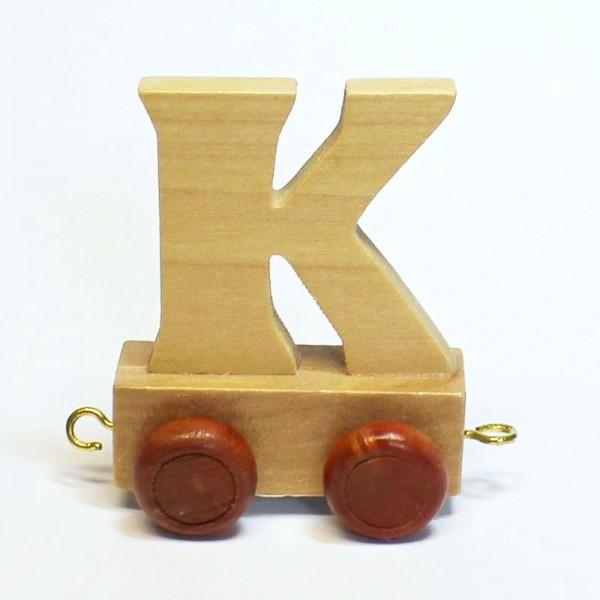 Buchstabenzug Buchstabe K, Holz