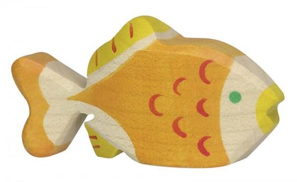 Holztiger Spielfigur Goldfisch