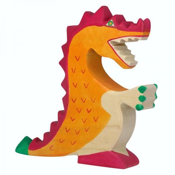 Holztiger Spielfigur Drache, rot