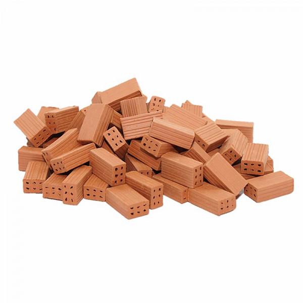 Miniaturziegel, Mauersteine aus Ton, M 1:20, 1000 Stück Großpackung