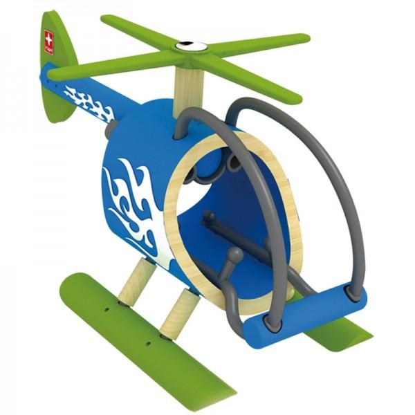 e-Copter Spielzeughubschrauber aus Bambus und Kunststoff