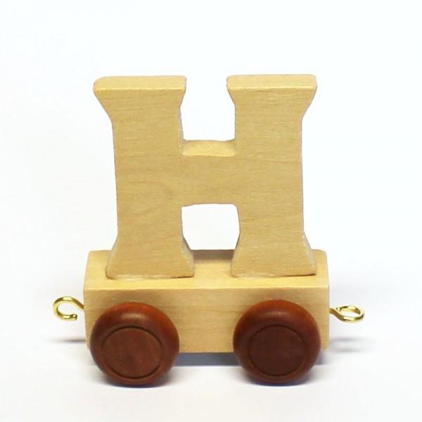 Buchstabenzug Buchstabe H, Holz