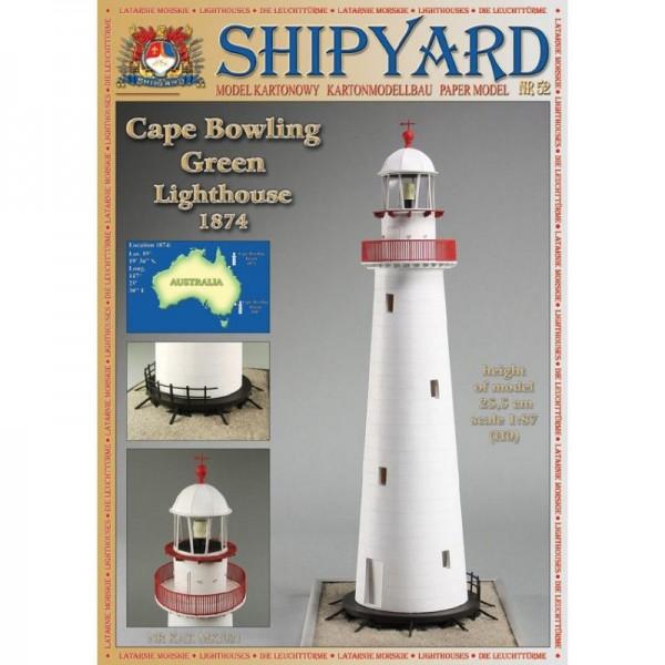 Modellbaubogen Cape Bowling Green Leuchtturm Maßstab 1:87 (H0)