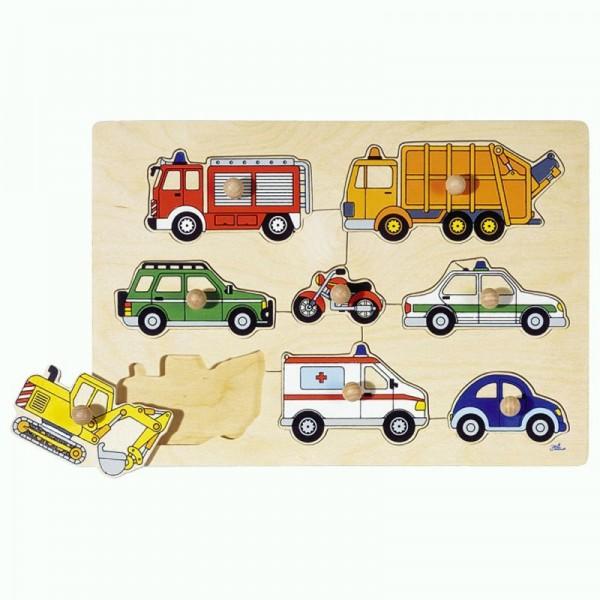 Steckpuzzle Verkehrsmittel, 8 Teile aus Holz