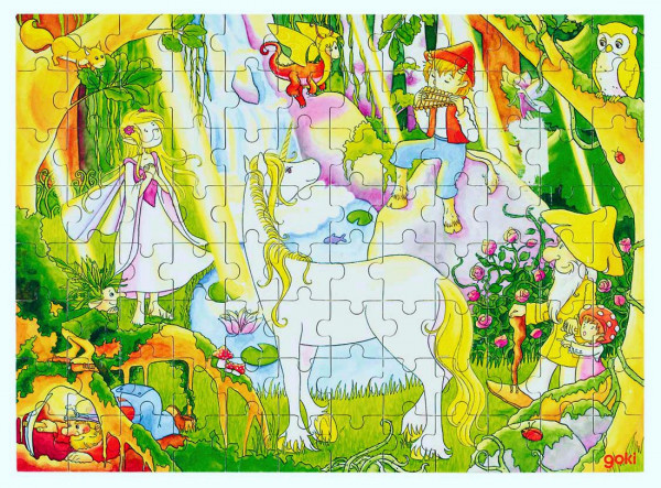 Puzzle aus Holz, Zauberwald, 96 Teile aus Holz
