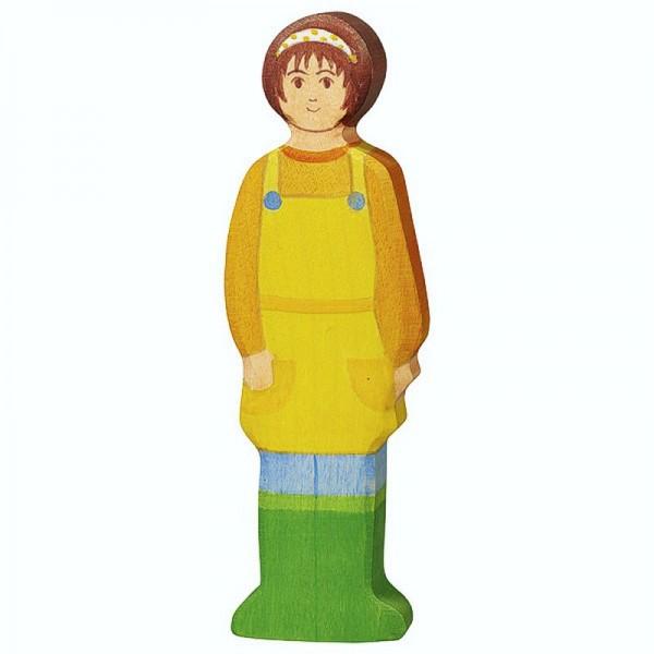 Holztiger Spielfigur Bäuerin