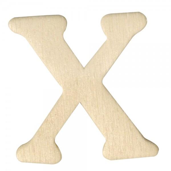 Holz-Buchstabe X, 4 cm