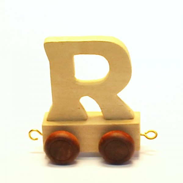 Buchstabenzug Buchstabe R, Holz