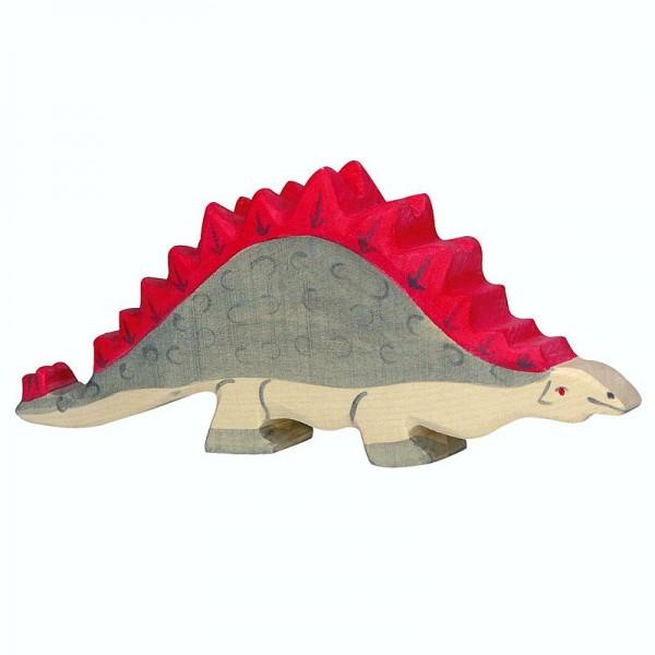 Holztiger Spielfigur Dinosaurier Stegosaurus