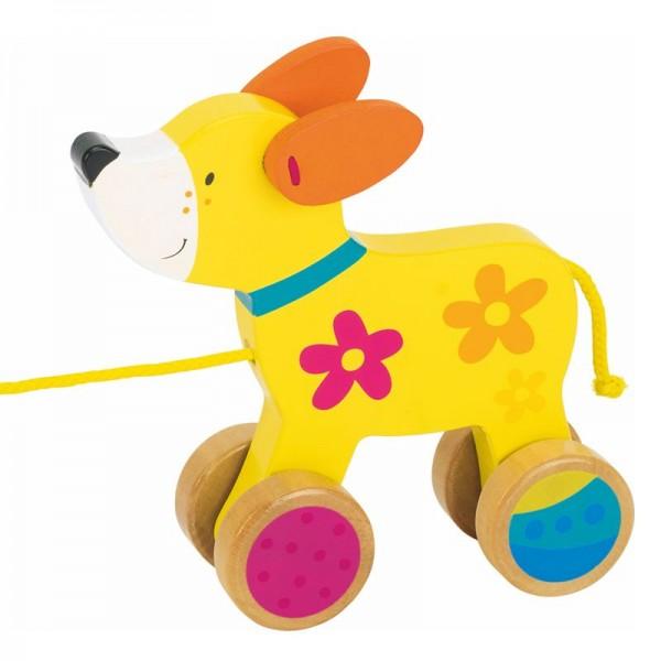 Susibelle Ziehtier Hund, Holz