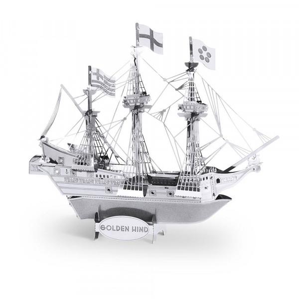 Metal Earth 3D-Metallbausatz Segelschiff Golden Hind
