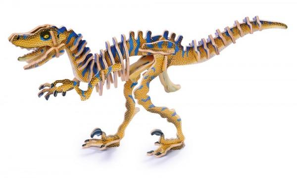 3D Puzzle Holzbausatz Dinosaurier Velociraptor