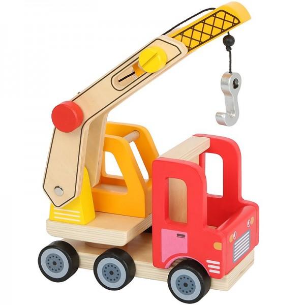 Kran, Kranwagen, Kranauto, Holzspielzeug, ab 3 Jahre