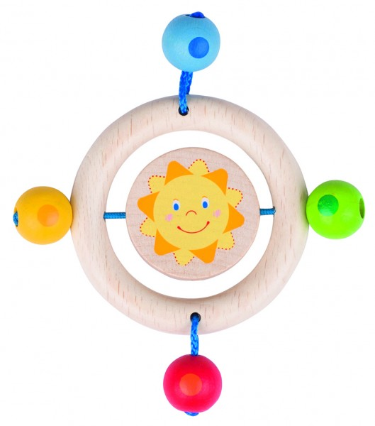 Greifling Sonne, mit Holzring und Holzkugeln