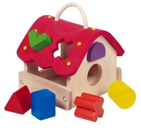 Goki Holzspielzeug Steckbox Haus