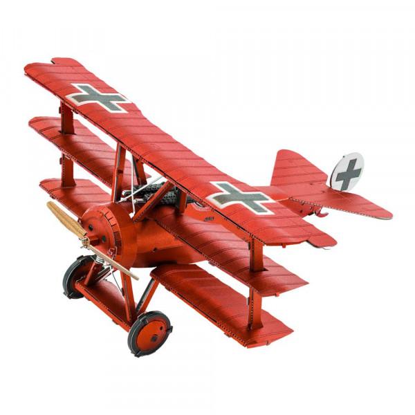 Metal Earth 3D Metallbausatz, Flugzeug Tri-Wing Fokker Roter Baron