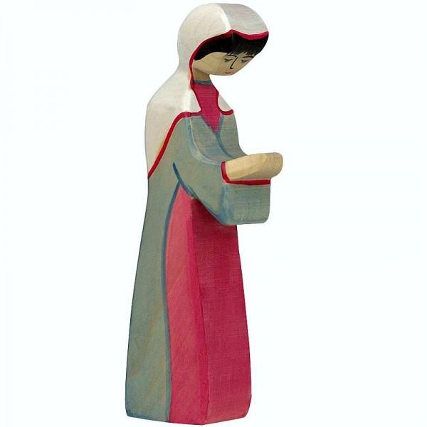 Holztiger Krippenfigur Maria 2