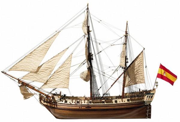 Occre La Candelaria Schiffsbausatz aus Holz im Maßstab M 1:85