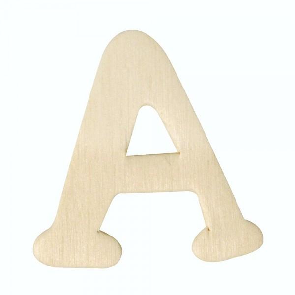 Holz-Buchstabe A, 4 cm