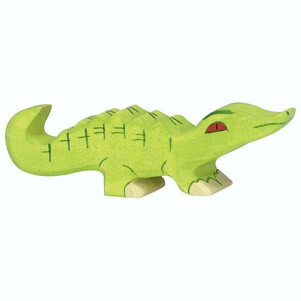 Holztiger Spielfigur Krokodil, klein