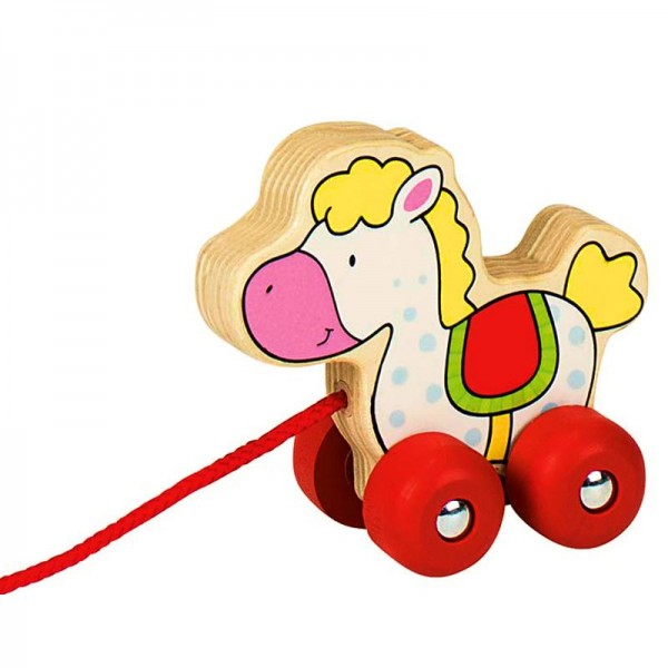 Ziehtier Pferd, aus Holz