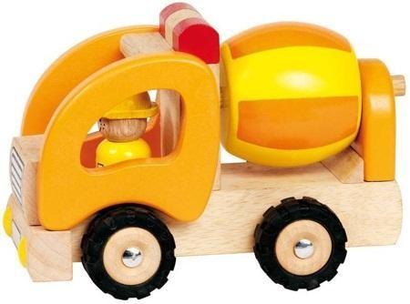 Spielzeugauto LKW Betonmischer, aus Holz, Holzspielzeug