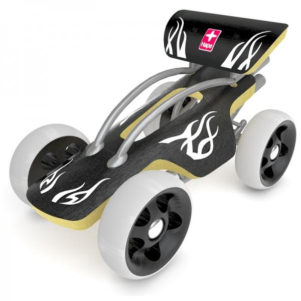 e-Drifter, Spielzeugauto aus Bambus und Kunststoff