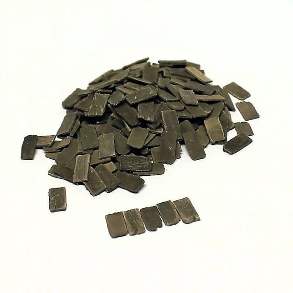 Miniatur Dachschindeln Holzimitat, 1000 Stk aus Keramik